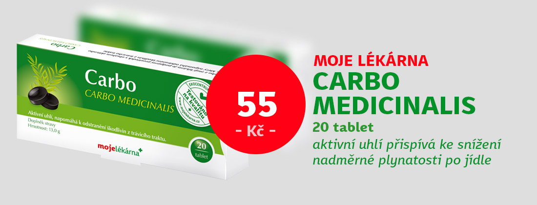 Moje lékárna - Carbo Medicinalis 20 tablet 300mg