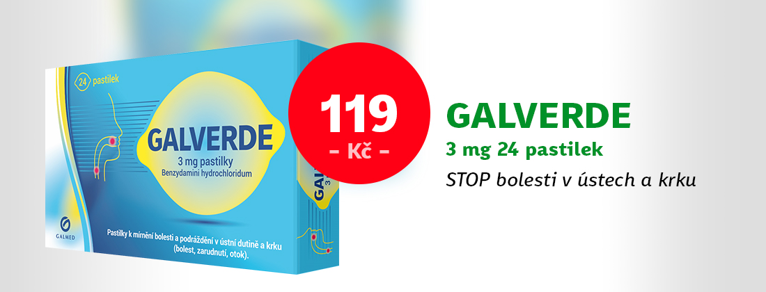 Galverde 3mg Lemon 24 pastilek