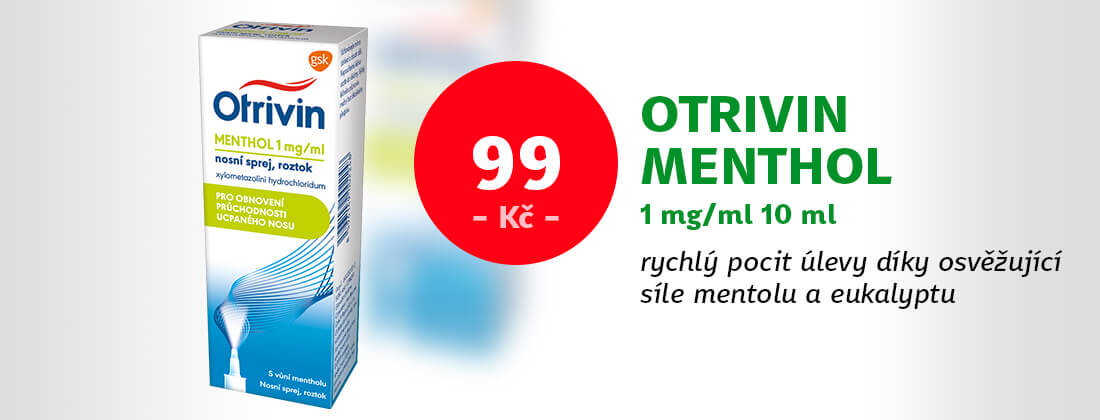 Otrivin Menthol nosní sprej s dávkovačem 1mg/ml 10ml
