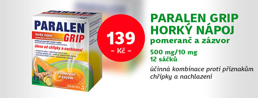 Paralen Grip horký nápoj pomeranč a zázvor 12 sáčků