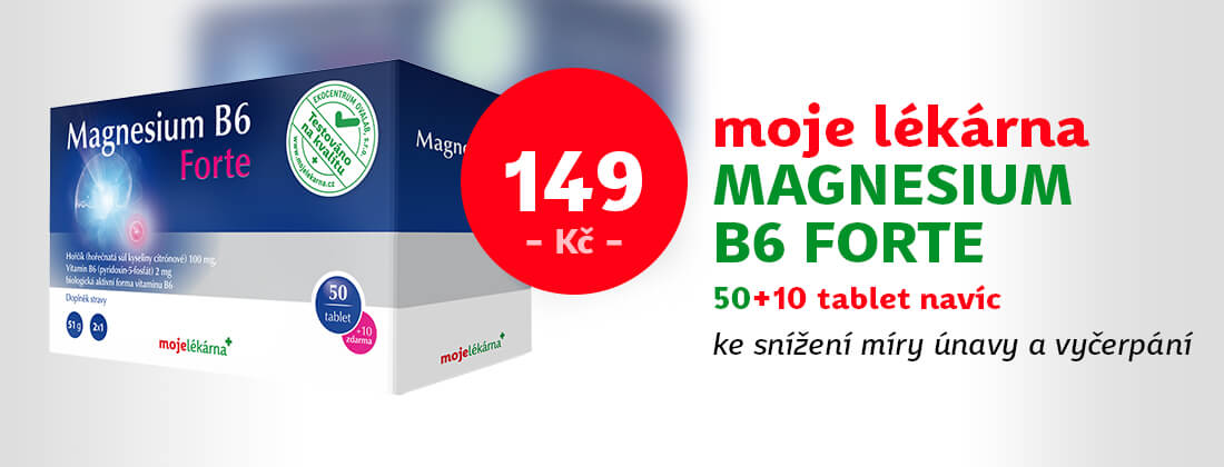 Moje lékárna Magnesium B6 Forte 50+10 tablet