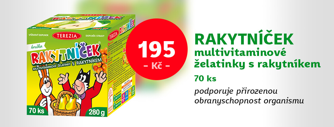Rakytníček multivitaminové želatinky s rakytníkem 70 ks